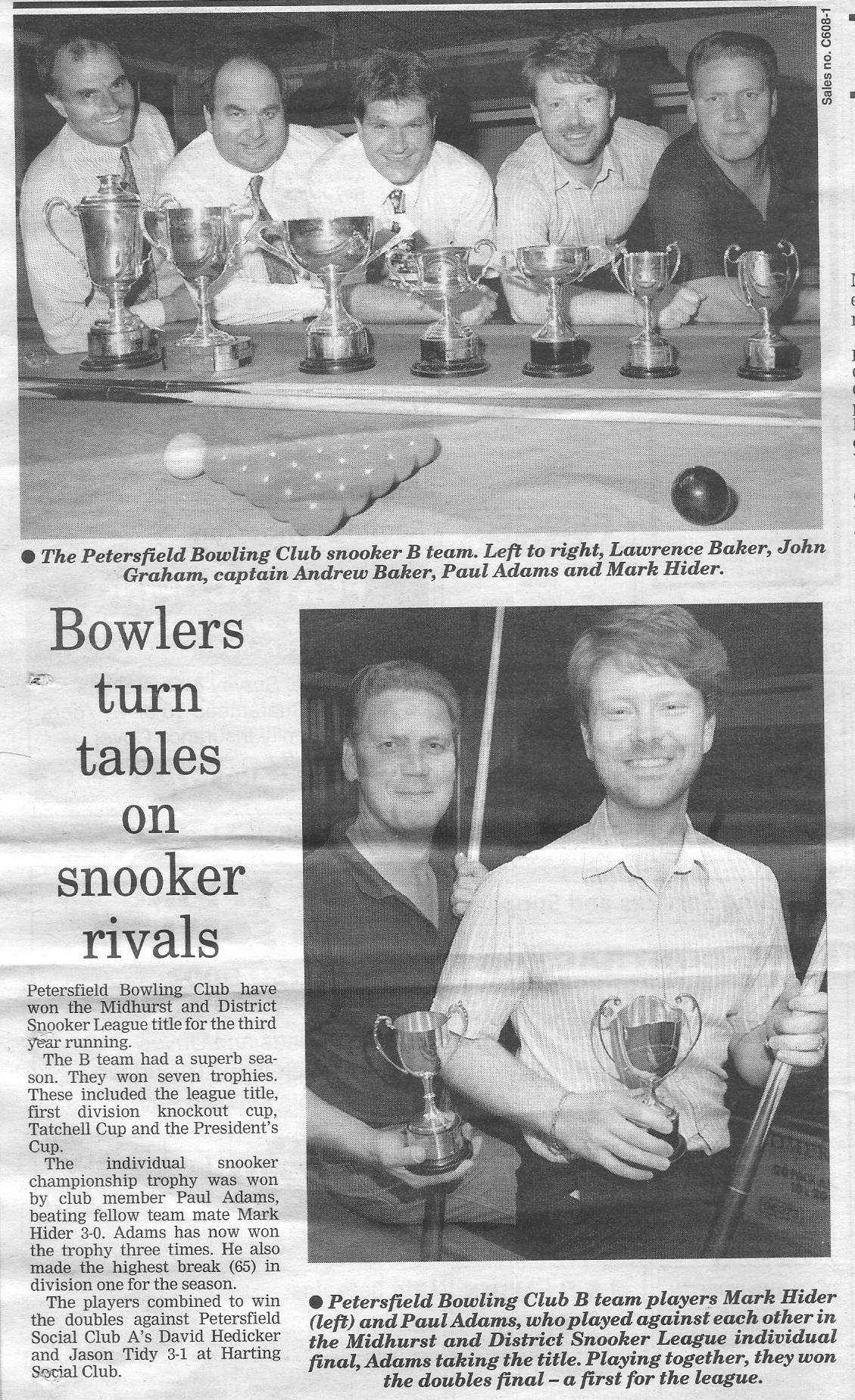 Petersfield Bowling Club B 1997
